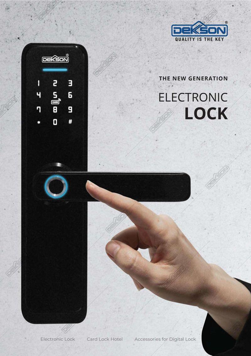 Katalog Electronic Lock Dekkson